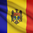 Series of ruffled flags. Republic of Moldova. — Stock Photo