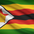 Series of ruffled flags. Republic of Zimbabwe. — Stock Photo #31267943