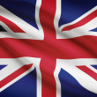 Series of ruffled flags. United Kingdom of Great Britain and Northern Ireland. — Stock Photo