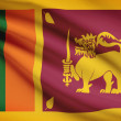 Series of ruffled flags. Democratic Socialist Republic of Sri Lanka. — Stock Photo #31347709