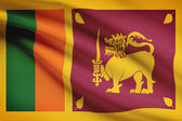 Series of ruffled flags. Democratic Socialist Republic of Sri Lanka. — Stock Photo