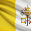 Series of ruffled flags. Vatican City State. — Stock Photo