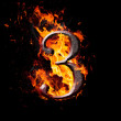 Numbers and symbols on fire - 3 — Stock Photo #37489277