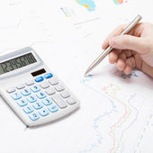 Banking, taxing and all things related with world of finance - 1 to 1 ratio image — Stock Photo