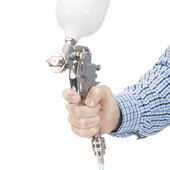 Industrial size spray gun used for industrial painting and coating - 1 to 1 ratio — Stock Photo