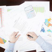 Banking, taxing and all things related with world of finance - 1 to 1 ratio — Stock Photo