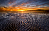 Allonby sunset — Stock Photo