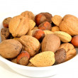 Mixed nuts in the shell — Stock Photo
