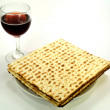 Matzo on a plate — Stock Photo