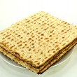 Matzos on a plate — Stock Photo
