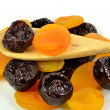 Prunes and apricots — Stock Photo