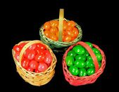Candy baskets — Stock Photo