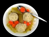 Matzo ball soup — Stock Photo
