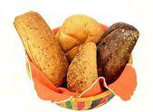 Basket of assorted rolls — Stock Photo