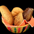 Basket of assorted rolls — Stock Photo #41236637