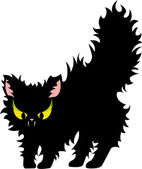 Feisty black cat — Stock Vector