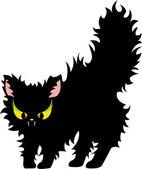 Feisty black cat — Stock Vector