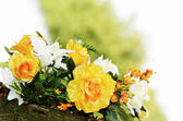 Beautiful artificial flowers — Stock Photo