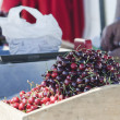 Stock Photo: Selling cherries