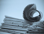 Rolls of newspapers — Stock Photo