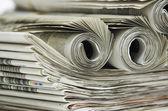 Závitky z novin — Stock fotografie