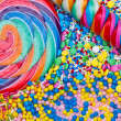 Colorful candies background — Stock Photo