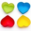 Colorful hearts isolated on white background — Stock Photo #20719179