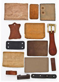 Blank Leather Labels Set — Stock Photo