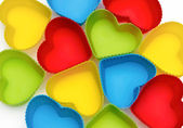 Colorful hearts isolated on white background — Stockfoto