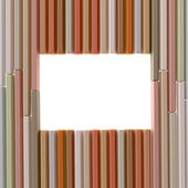 Pastel pencils frame — Stock Photo