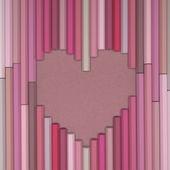 Pastel pencils love background — Stock Photo