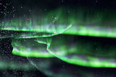 Green northern lights. aurora — Stock Photo
