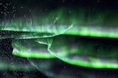 Green northern lights. aurora — Stock Photo