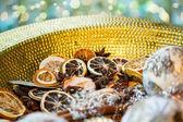 Christmas Decoration with dryed fruits — Stock Photo