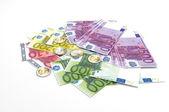 Notas de euro - moeda com curso legal da união europeia — Foto Stock