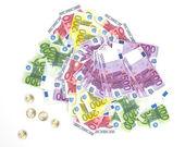 Banconote in euro - moneta a corso legale dell'unione europea — Foto Stock
