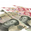 Chinese yuan renminbi (RMB) banknotes close up — Stock Photo