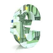 Eurosymbool met euro 's — Stockfoto