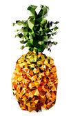 Polygonal Pineapple Fruit Illustration — Stock Vector