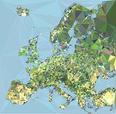 Europa Map — Stock Vector