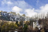Snowy peaks of the pirineos rockies — Stock Photo