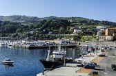 The docks of Getaria city — Foto de Stock