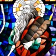 ������, ������: Stained Glass Detail of Prophet Elijah