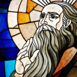 Stock Photo: Stained Glass Detail of Prophet Elijah