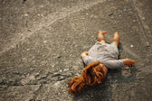 Abandoned Dirty Toy Doll — Stock Photo