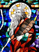 Stained Glass Detail of Prophet Elijah — Stock Photo