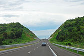 Highway Cut Into Hills — Stock Photo