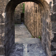 An Old Stone Arch Leading to a Dungeon — Stock Photo