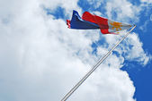 Philippine Flag — Stock Photo