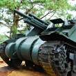Stock Photo: Old Green Heavy War Tank